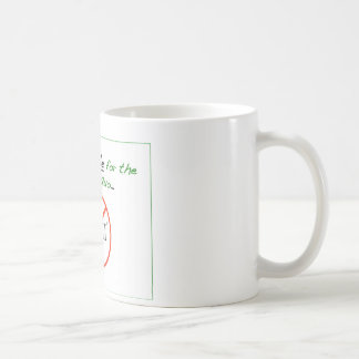 Never Settle for the Status Quo (style 1) Classic White Coffee Mug