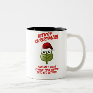 Never Shed Its Leaves Two-Tone Coffee Mug