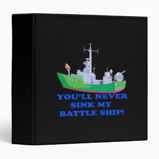 Never Sink My Battle Ship Binder