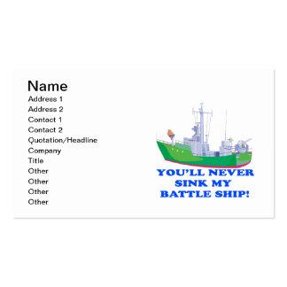Never Sink My Battle Ship Business Card