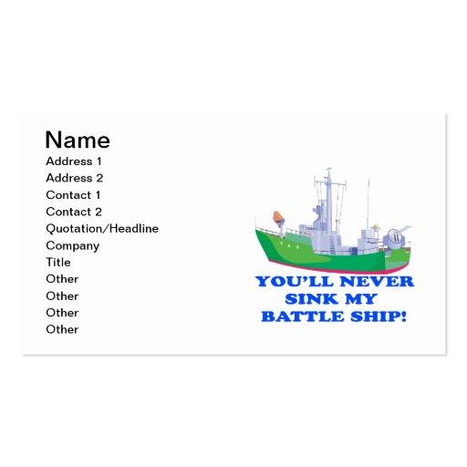 Never Sink My Battle Ship Business Card Template