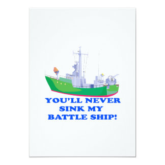 Never Sink My Battle Ship Card