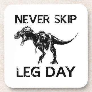 Never Skip Leg Day Beverage Coaster