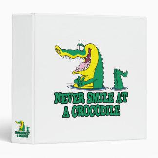 never smile at a crocodile binders