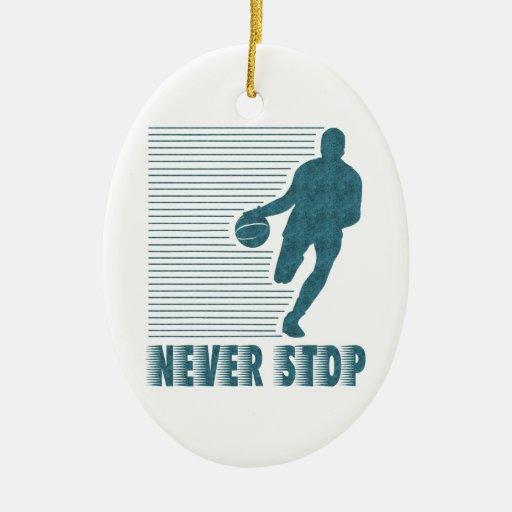 Never Stop: Basketball Ornament