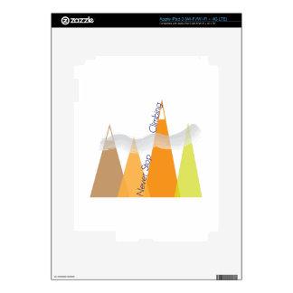 Never Stop Climbing iPad 3 Decals
