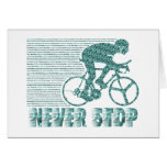 Never Stop: Cycling Greeting Card