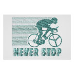 Never Stop: Cycling Posters