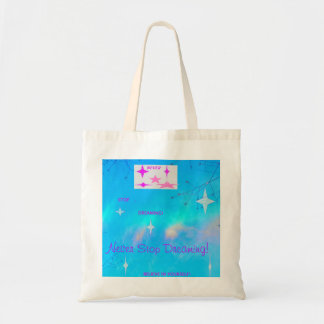 Never Stop Dreaming Aqua Tote Bag
