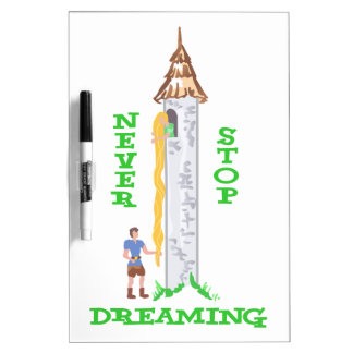 NEVER STOP DREAMING Dry-Erase BOARDS