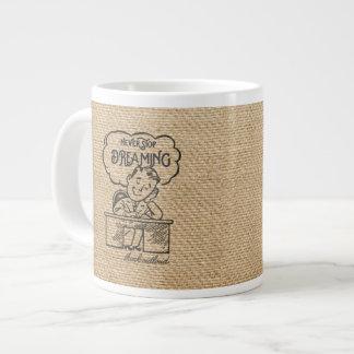 Never Stop Dreaming Illustration Vintage Man Extra Large Mugs