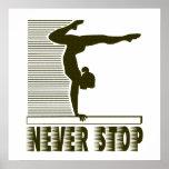 Never Stop: Gymnastics Poster