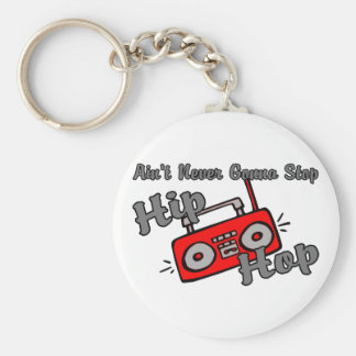 Never Stop Hip Hop Basic Round Button Keychain