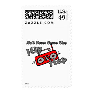 Never Stop Hip Hop Postage Stamps