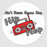 Never Stop Hip Hop Stickers