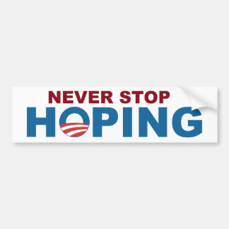 "Never Stop Hoping sticker with Obama ""O"""