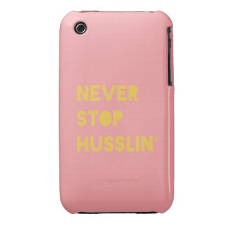 Never Stop Husslin Inspirational Quote Pink Yellow iPhone 3 Cases