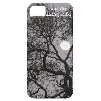Never stop making wishes, Full moon winter tree iPhone 5 Cover