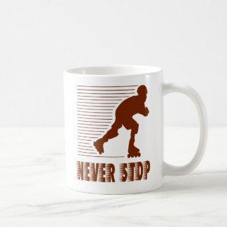 Never Stop: Rollerblading Coffee Mug