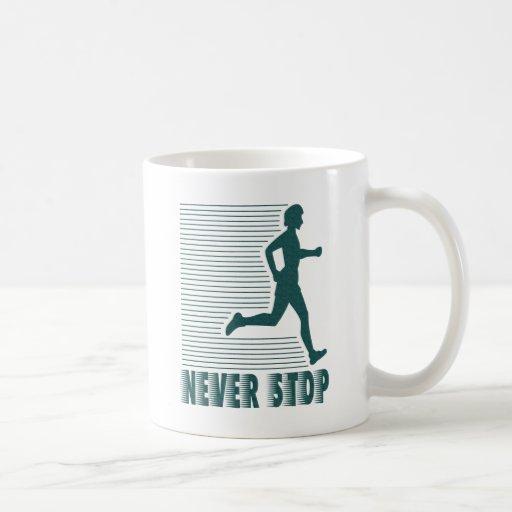 Never Stop: Running Classic White Coffee Mug