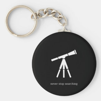 Never Stop Searching Telescope Keychain