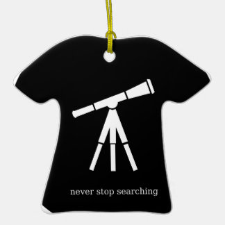 Never Stop Searching Telescope Christmas Ornament