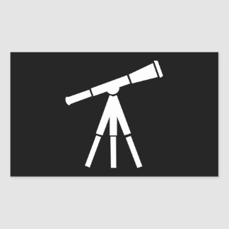 Never Stop Searching Telescope Rectangle Sticker