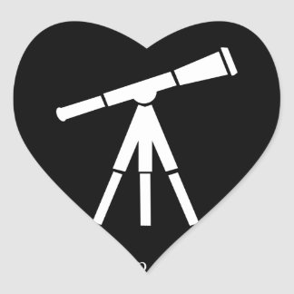 Never Stop Searching Telescope Sticker