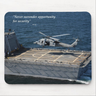 Never surrender opportunity for security mouse pad