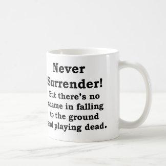 Never Surrender/Play Dead Mug