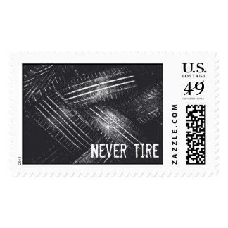 Never Tire Postage Stamp