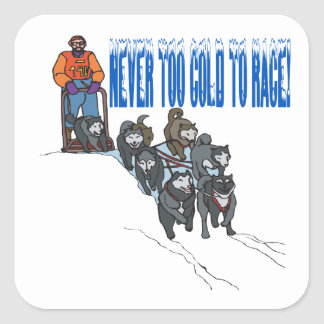 Never Too Cold To Race 2 Square Sticker