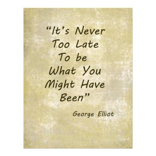 Never Too Lage George Elliot Letterhead Template