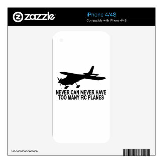 Never Too Many RC Planes T-Shirt.png Decals For The iPhone 4