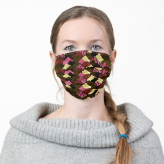 Never Too Much Chocolate - Valentines Day Candy Adult Cloth Face Mask