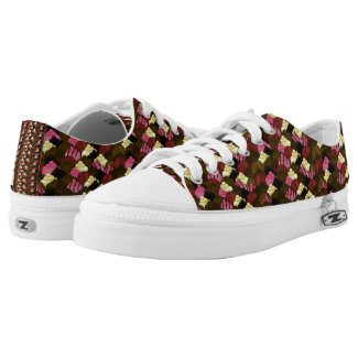 Never Too Much Chocolate - Valentines Day Candy Low-Top Sneakers