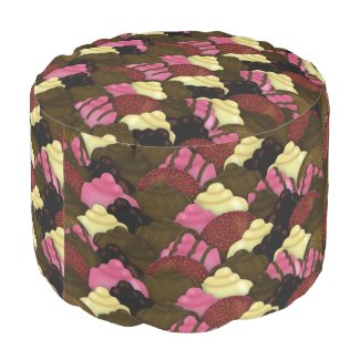 Never Too Much Chocolate - Valentines Day Candy Pouf