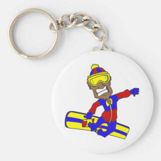 Never Too Old Snowboard Guy Key Chains