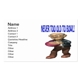 Never Too Old To Bowl Double-Sided Standard Business Cards (Pack Of 100)