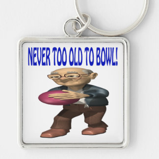 Never Too Old To Bowl Keychains