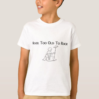 Never Too Old to rock guitarist on stool T-Shirt