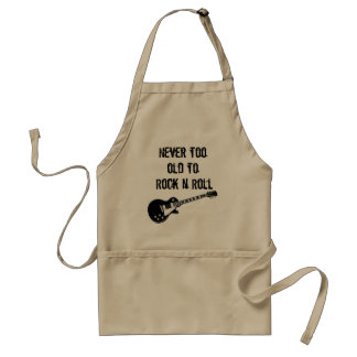 Never Too Old To Rock N Roll Adult Apron