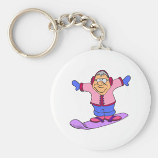 Never too Old Woman Keychain