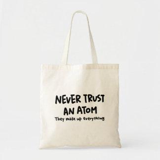 never trist an atom tote bag