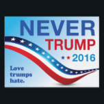 "Never Trump Yard Sign #1<br><div class=""desc"">Can&#39;t find the right sign to put up after your neighbor puts up their Trump sign? Here ya go!</div>"