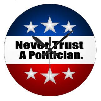 Never Trust A Politician Clock