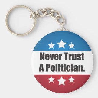 Never Trust a Politician Keychain