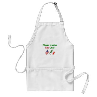 Never Trust a Skinny Chef Adult Apron