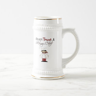 Never Trust a Skinny Chef Beer Stein