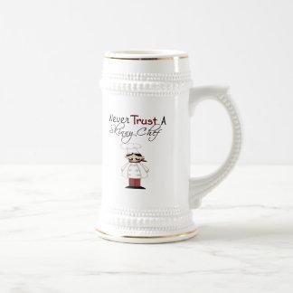 Never Trust a Skinny Chef Coffee Mugs